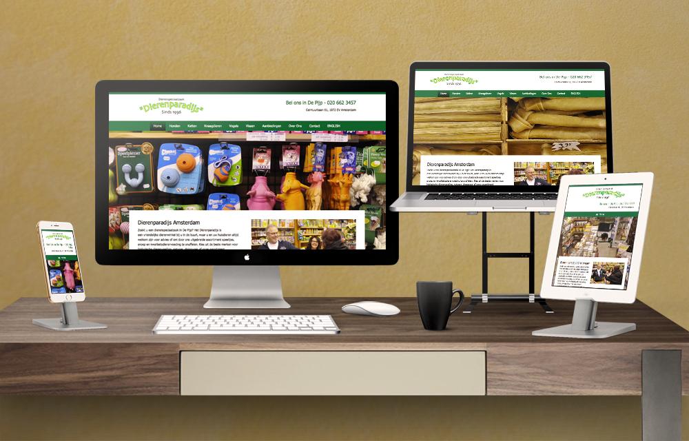 Dierenparadijs responsive website