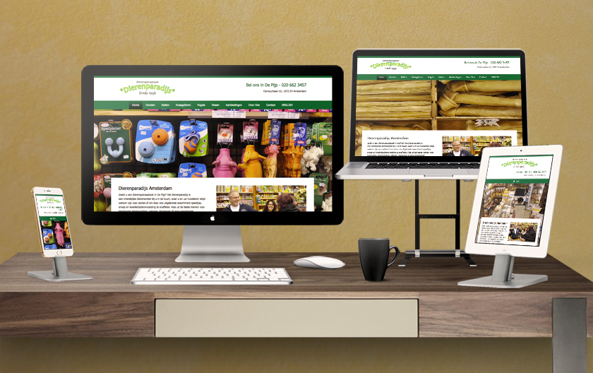 Dierenparadijs Pet Shop Website
