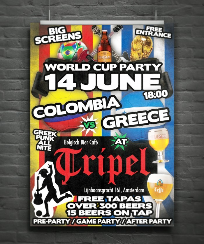 Tripel World Cup Party poster