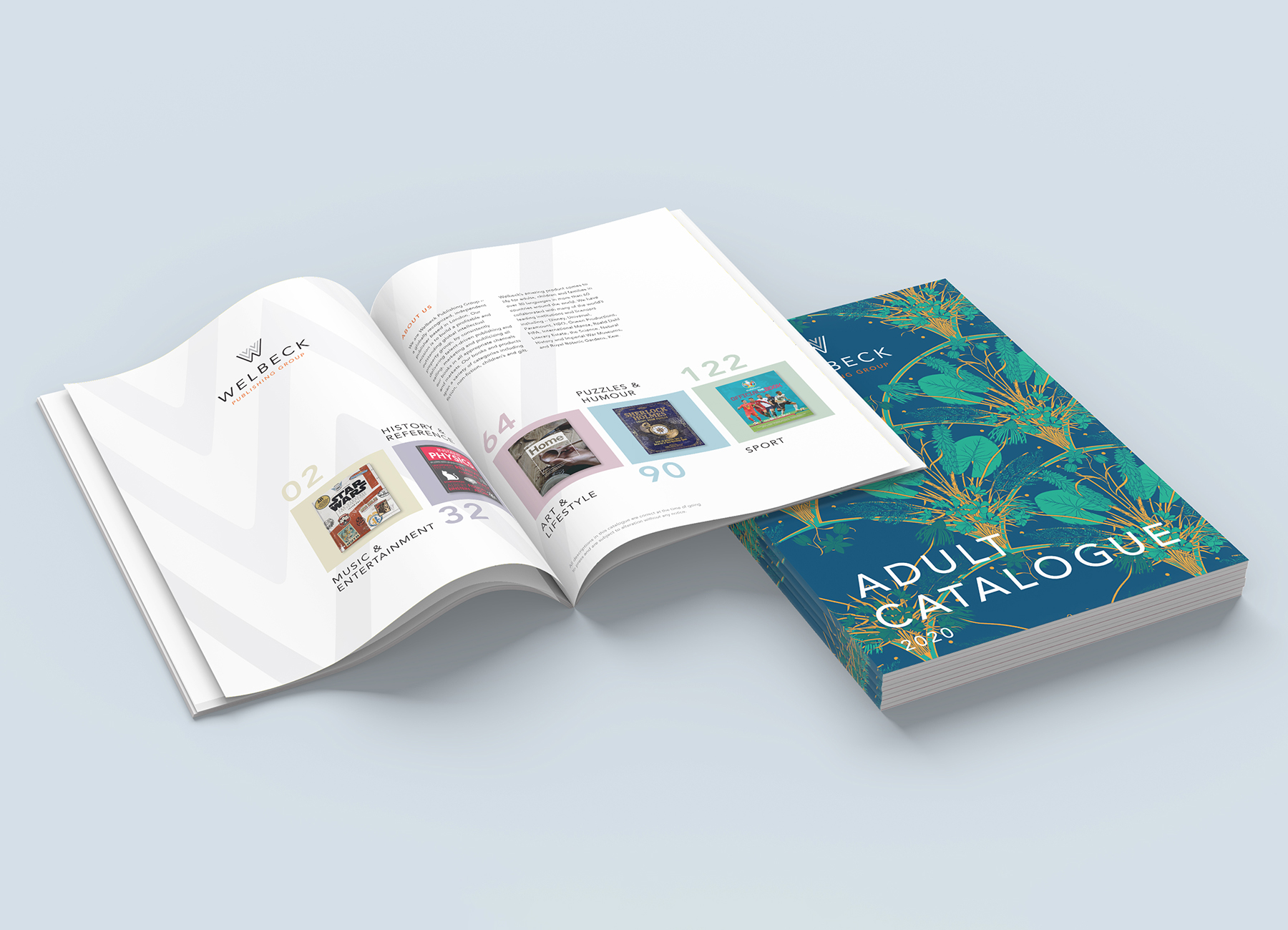 Welbeck Book Catalogue design