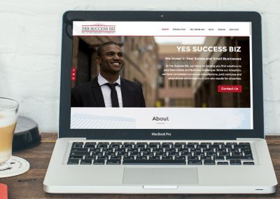 Yes Success Business Coaching Website