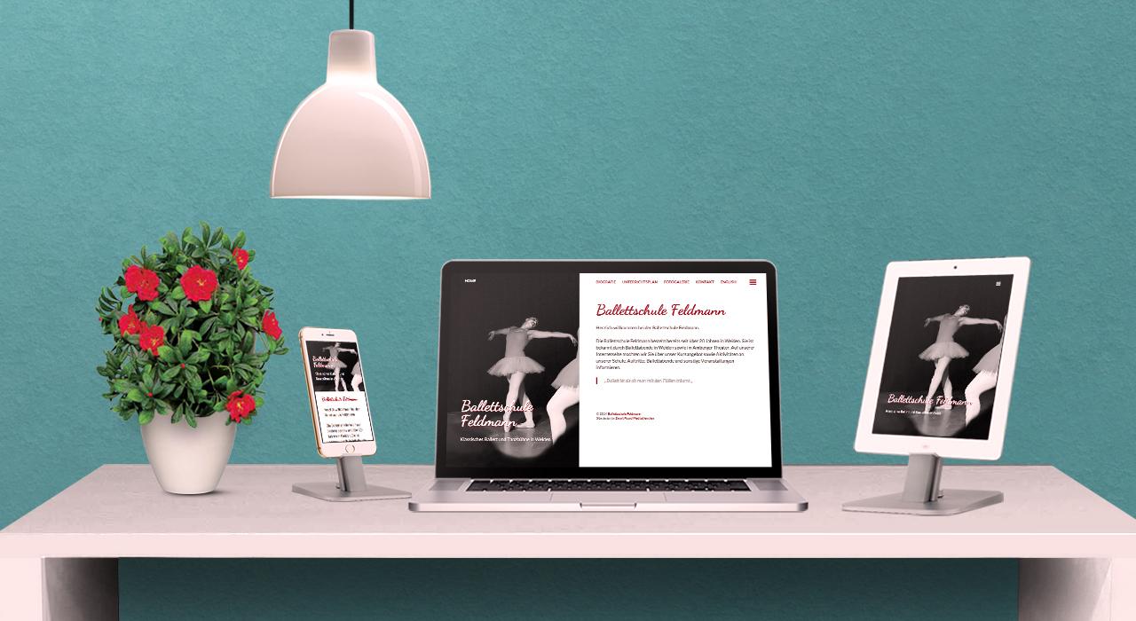 Ballettschule Feldmann website mockup