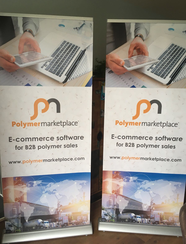 Polymermarketplace roller banners